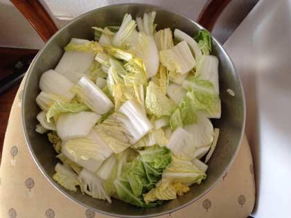 白菜ざく切り