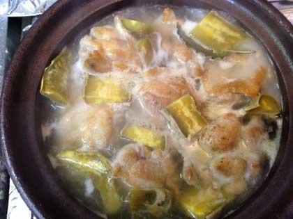 鶏肉とレモンコンフィと干し芋のタジン