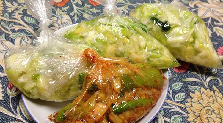 キャベツと小松菜の漬物