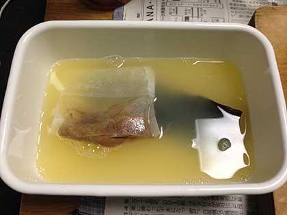 かぼす汁と出汁材料